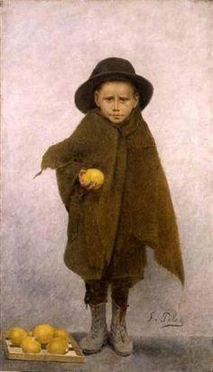 The little orange peddler Fernand Pelez 1848-1913.
