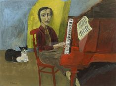 Simon Quadrat Girl at the Piano