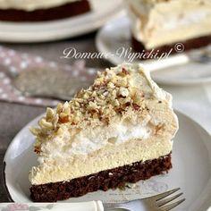 Tort bezowo- czekoladowy z masą chałwową