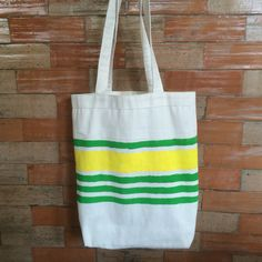 Hand painted canvas totes
