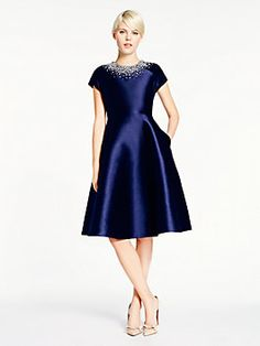 madison ave. collection alixi dress, rich navy