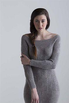Ravelry: Diamond Rib Dress pattern by Laura Zukaite