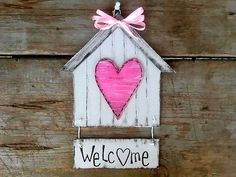 Home sign wall decor Arte Country, Country Decor, Rustic Decor, Primitive Decor, Home Crafts, Diy Crafts, Home Signs, Wall Signs, Bird Houses