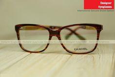 Chanel 3262 large-rim optical women near-sighted eyewear mottled coffee