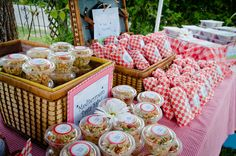 Inspiration--Picnic Birthday Party Food Display Individually Wrapped Red Gingham