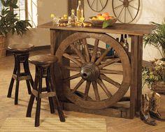 Wagon Wheel Bar Furniture (if I drank)