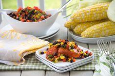 Southwest Salmon with Black Bean-Corn Salsa