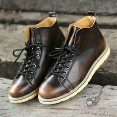 2016 Handmade Men Boots Comfortable Winter Quality Fashion Ankle Boots Casual Men Leather Snow Boots Winter Shoes