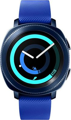 Samsung Gear Sport Smartwatch Fitness Tracker for Android & iOS Devices in Blue 887276236025 Smartwatch Bluetooth, Ios, Waterproof Fitness Tracker, Smartphone, New Samsung Galaxy, Cool Things To Buy, Stuff To Buy, Sport Watches, Iphone