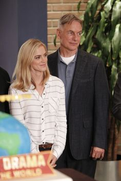 Emily Wickersham and Mark Harmon celebrate NCIS's International Audience Award win for Most Watched Drama in the World
