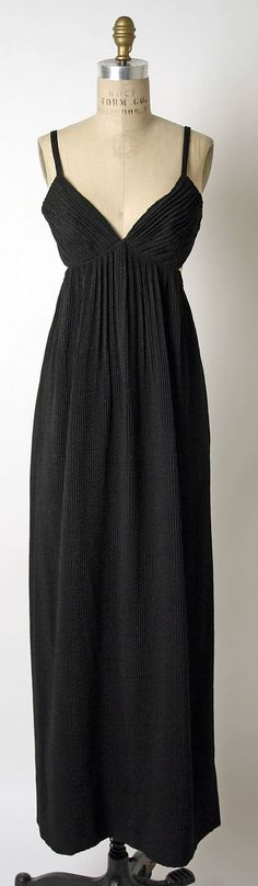 Dress, Evening  James Galanos (American, born Philadelphia, Pennsylvania, 1924)  Date: 1964 Culture: American Medium: silk