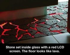 Glass inside rock..lcd screen...looks like lava