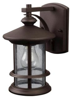 "Treehouse 1-Light 9.75"" Oil Rubbed Bronze Outdoor Downlight at Menards, much more expensive on other webstores!"