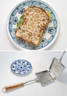 art noveau on your breakfast! I have to confess this was the way i used to make toasties back in Colombia, without the pretty pattern :P