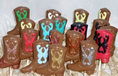 Chocolate Cowboy Boot Lollipops by candycottage on Etsy, $16.50