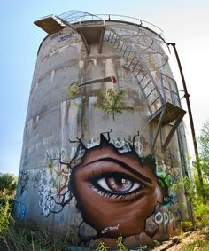 Water tower art in Australia