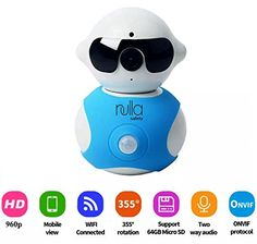 Smart Home Wireless Baby Video Monitor Home Security Hidden Camera Alarm System Plug N Play Robot Control from CellMobile Device App Night Vision 355 Pan easy to use ** Continue to the product at the image link. Note: It's an affiliate link to Amazon