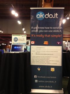 Welcome to the okdo.it booth at TechCrunch Disrupt San Francisco, California 2012    Stop by and learn how to OKDO.IT    Disrupters sign up for our private beta using the code #OKDPBTC12 ~ http://www.okdo.it/