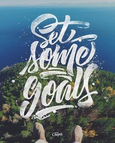 Creative Typography, Set, and Goals image ideas & inspiration on Designspiration Typography Love, Creative Typography, Typography Quotes, Typography Inspiration, Typography Letters, Design Inspiration, Vintage Typography, Motivation Inspiration, Daily Inspiration