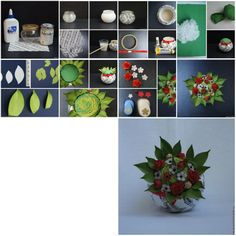 How To Make beautiful Vase with Flowers step by step DIY tutorial instructions, How to, how to do, diy instructions, crafts, do it yourself, diy website, art project ideas