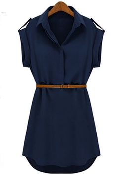 Find More Dresses Information about New Fashion Women's Casual Shirt Summer Mini Dress With Belt All Match style Cap Sleeve Stretch Chiffon  to ukraine also,High Quality shirt pearl,China dress shirt tailor Suppliers, Cheap shirt ladies from Hot Fashion Zone on Aliexpress.com