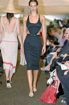 Paul Smith   Spring 2000 Ready-to-Wear   26 Black cut out halter midi dress