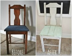 Wood Plank Chair Makeover