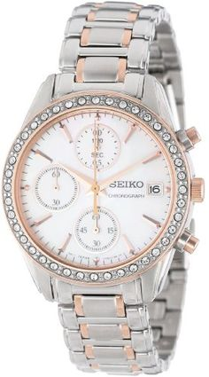 Seiko Women's SNDY18 Two Tone Stainless Steel Analog with Mother-Of-Pearl Dial Watch