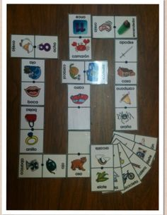 Domino de palabras. Speech Language Therapy, Speech And Language, Words, Speech Therapy, Articulation Therapy