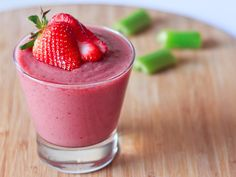 Red Berry Celery Smoothie by Wishful Chef
