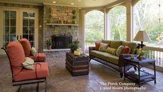 Custom screened porch by The Porch Company in Nashville TN