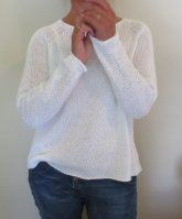 Вязание пуловера выполняется сверху вниз