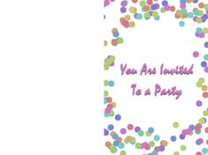 Party Printable Free Template Free Printable Cards, Free Printable Invitations, Printable Party, Party Invitations, Free Printables, Sign I, Templates, Prints, Stencils