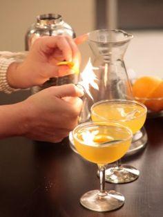 The Sage Beekeeper Cocktail : Recipes : Cooking Channel, via Alie & Georgia. Honey simple syrup, gin, orange juice, fresh sage leaves.
