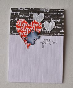 Purr-fect Valentine with Cat card by Anja Curvers. Stamps by Newton's Nook Designs!