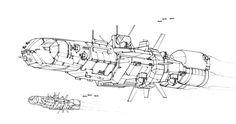 Battletech art - Black Lion Class Battlecruiser by sharlin on DeviantArt