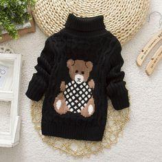 7d62a0357689 Cute Cartoon Bear Print Knitwear. Winter Baby BoyBaby Girl SweatersBoys  SweatersCardigansKnitting ...