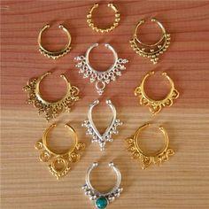 septum assortis de non nez percé - bijoux nez - bijoux de septum : Piercing par ronyibiza