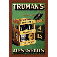 Buyenlarge 'Truman's Ales and Stouts' by Frances Smith Vintage Advertisement