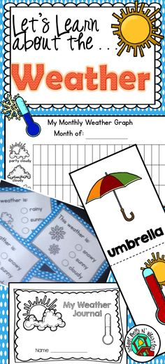 Weather unit ideal for students just leaning weather vocabulary. Ideal for students in ELL or special education. Lot's of visual supports!