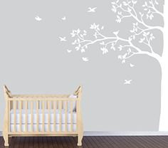 White Tree Wall Decal, Tree in Forest, White Tree Wall Art Nursery Decals and More http://www.amazon.com/dp/B00NAGUE0M/ref=cm_sw_r_pi_dp_rgIiub19PFQP2