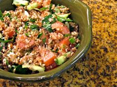 Tabbouleh Salad ~ made this today...very good!
