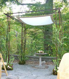 Chuppah for wedding at Krippendorf Lodge