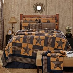 Country and Primitive Bedding, Quilts - Teton Star Bedding by VHC Brands - Country Decor, Primitive Decor, Bedding, Braided Rugs