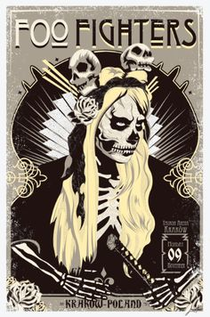 Foo Fighters - Leviathan - 2015 ----Gig Poster