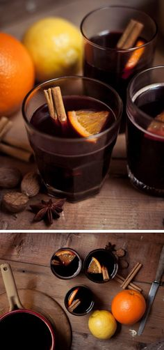Hot Spiced Wine!  *Our recipe: Concord wine, packaged mulled spices (wrap in cheese cloth), add cinnamon stick, simmer on very low heat until warm. Enjoy!  I might try this with a cabernet sauvignon and some sugar instead of a concord wine as a fall experiment..