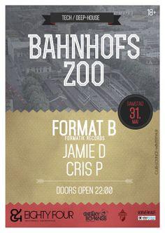 Bahnhofs Zoo, eightyFour, #flyer #design