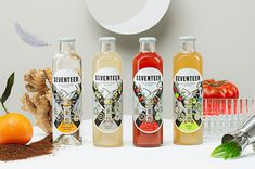 Seventeen es la evolución natural de la marca 1724 Tonic Water Bloody Mary, Kombucha, Brunch, Gin And Tonic, Bar, Apple, Wine, Bottle, Drinks