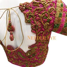 25 Head Turning Pink Blouse Designs To Shop the Best Blouse Back Neck Designs, Netted Blouse Designs, Wedding Saree Blouse Designs, Hand Work Blouse Design, Pattu Saree Blouse Designs, Simple Blouse Designs, Choli Designs, Maggam Work Designs, Designer Blouse Patterns