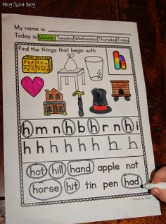 FREE Letter Sound Worksheet Sample - Hh